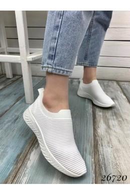Кроссовки без шнурков текстильные