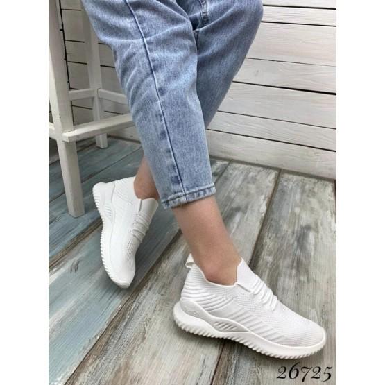 Кроссовки на шнурках текстильные