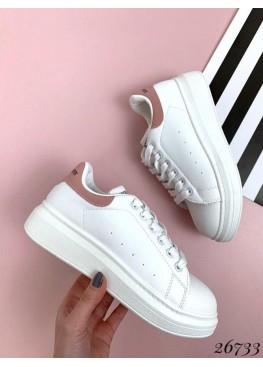 Кроссовки с розовым задником
