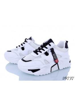 Женские кроссовки белый-черный