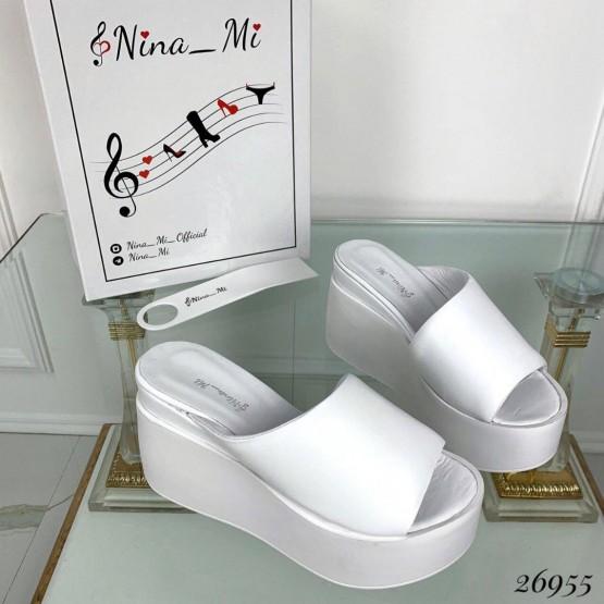 Кожаные сабо-шлепанцы Nina Mi