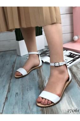 Кожаные сандалии закрытая пятка.