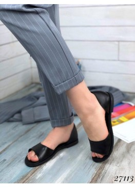 Летние балетки с открытым носком