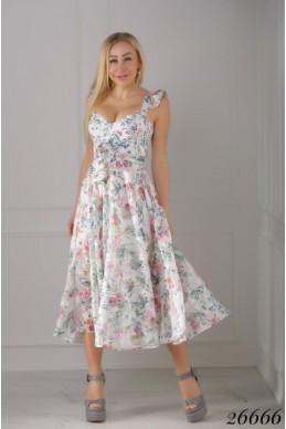 Летнее платье в цветочек Art