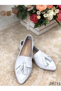 Женские туфли балетки кожаные