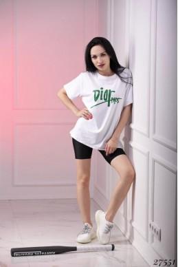 Футболка Dior Paris белая