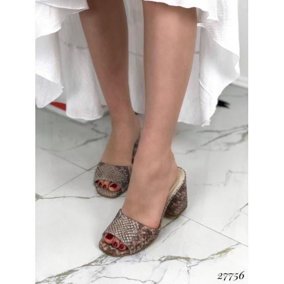 Сабо кожаные Nina_Mi на каблуке,