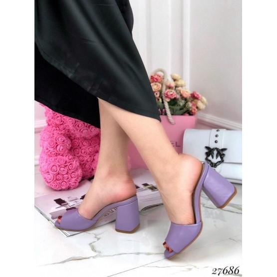 Сабо кожаные Nina_Mi на каблуке.