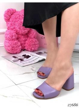Сабо замшевые Nina_Mi на каблуке