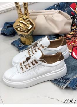 Белые кеды на шнурках Andano