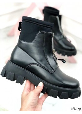 Ботинки деми с чулком