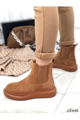 Ботинки замшевые без застежки