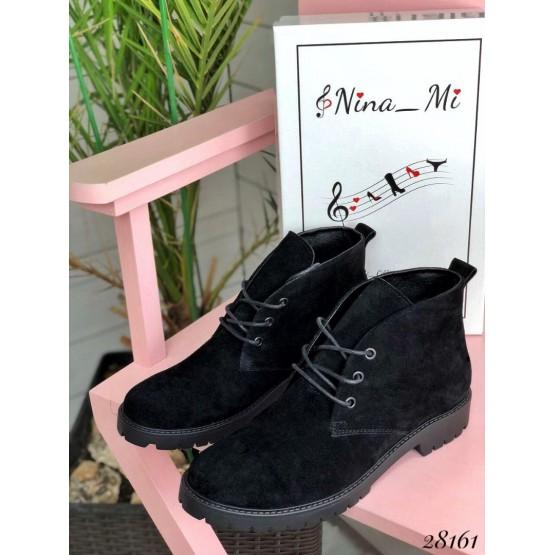 Короткие ботинки на шнурках Nina_mi с блочками