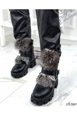 Ботинки зимние с натуральной опушкой