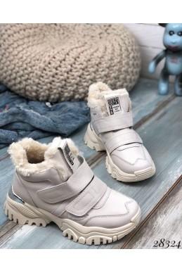 Зимние  спортивные кроссовки на липучках