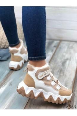 Зимние  спортивные кроссовки на резинке