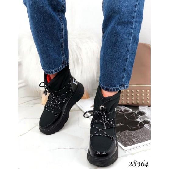 Ботинки дутики на спортивной подошве