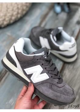 Кроссовки замшевые серые