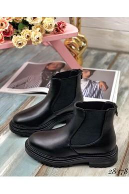 Ботинки зимние, резиновые вставки