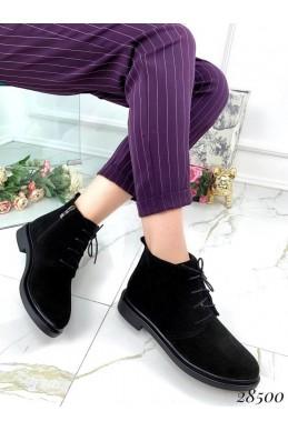 Ботинки демисезонные Modern сбоку молния, спереди на шнуровке