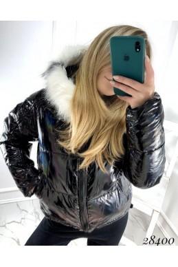 Куртка голограмма,рукава на затяжках