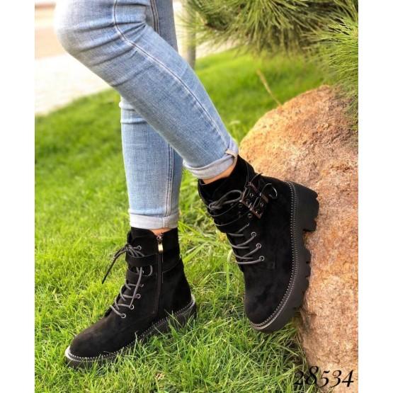 Ботинки демисезонные с ремешками
