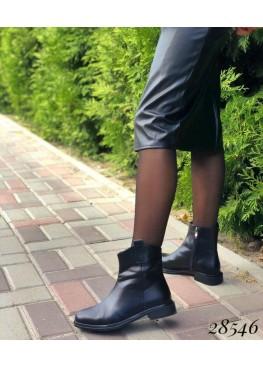 Ботинки демисезон с квадратным каблуком и носом