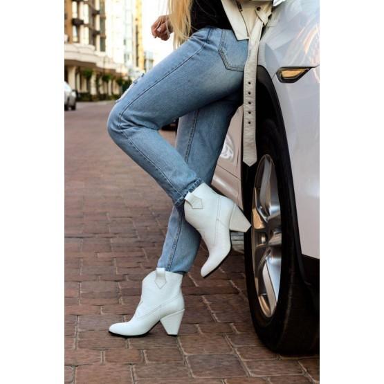 Демисезонные ботинки казаки питон Nina_mi.