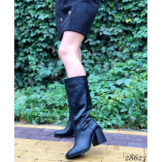 Сапоги демисезон на квадратном каблуке