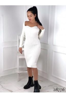 Платье миди в рубчик Анжелика
