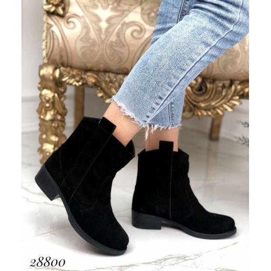 Ботинки демисезонные на каблуке без молнии