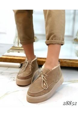 Ботинки зимние хайтопы на шнуровке