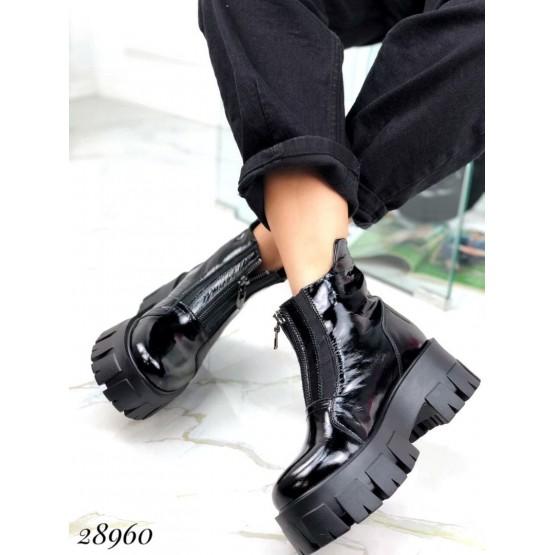 Ботинки демисезон спереди на молнии
