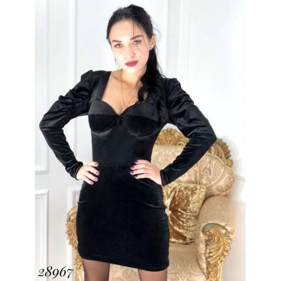 Платье велюр.