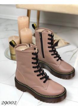 Кожаные зима ботинки Dr. Martens.