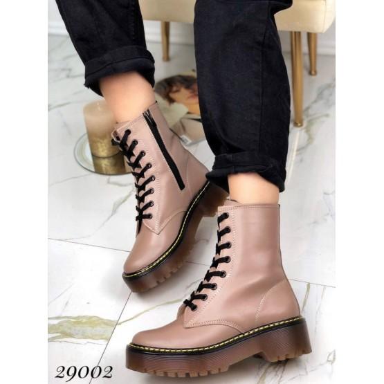 Кожаные зима ботинки