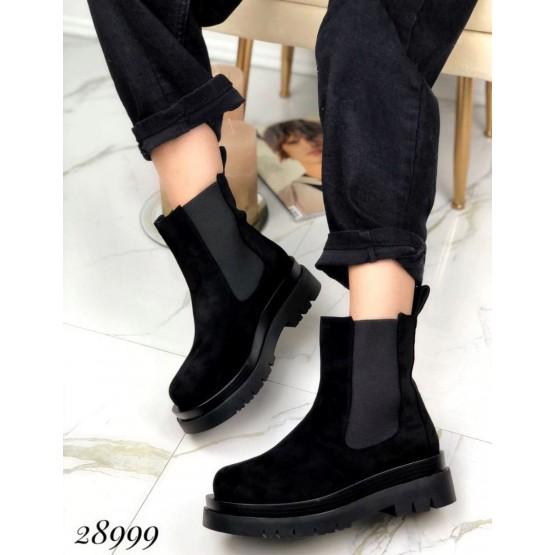 Ботинки средняя высота c резинкой