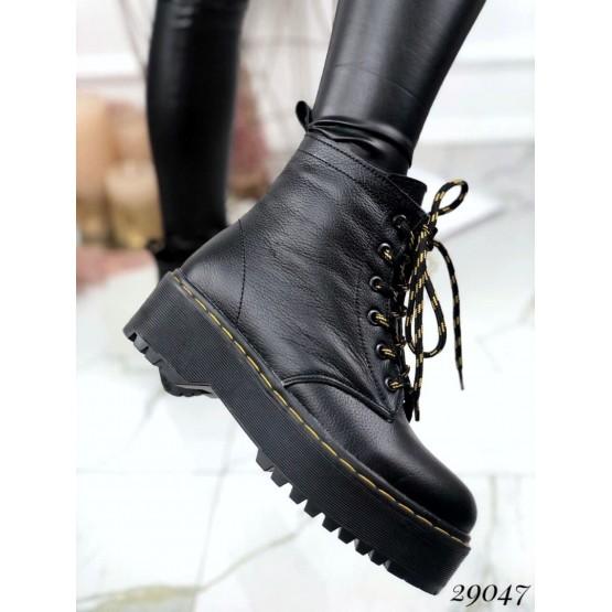 Зимние ботинки, на толстой подошве