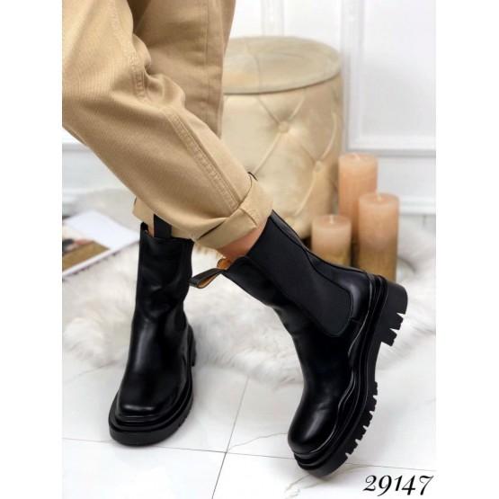 Ботинки демисезон челси высокие  с резинками по бокам