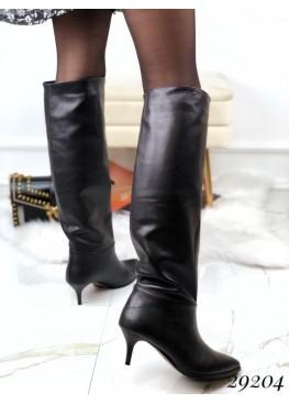 Еврозима, сапоги без молнии на небольшом каблуке NINA_MI