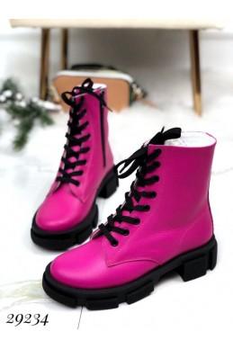 Ботинки зима на тракторной подошве NINA_MI.
