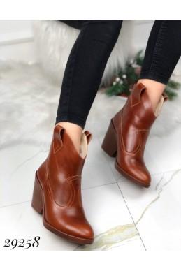 Ботинки казаки кожаные зима
