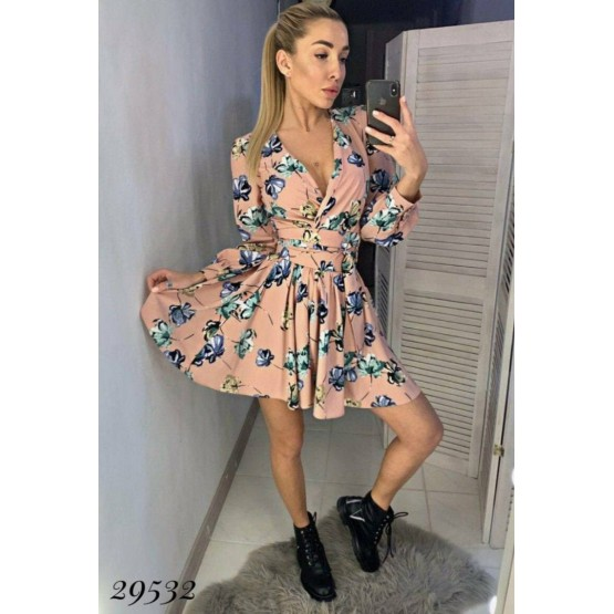 Платье шифон на запах
