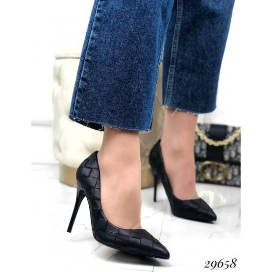 Туфли лодочки с квадратным принтом
