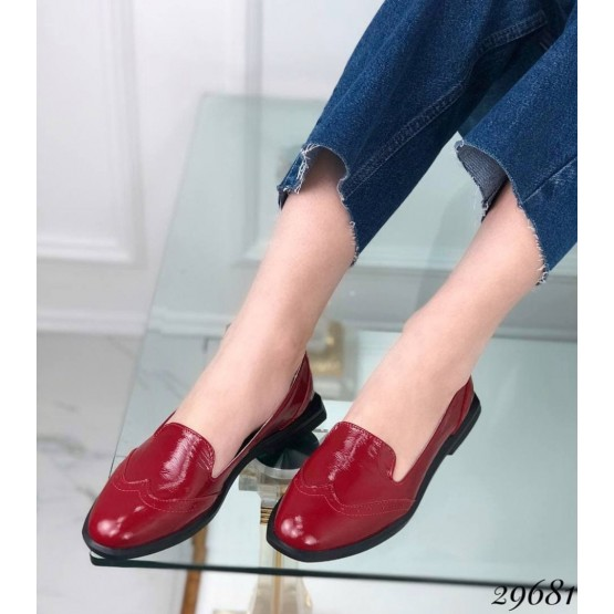 Туфли лоферы с квадратным каблуком