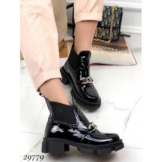 Ботинки челси демисезон с цепью