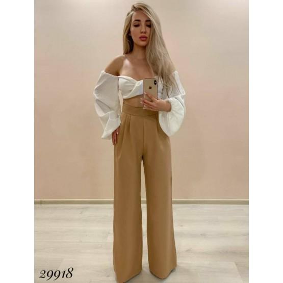 Класические брюки  на  высокой   талии