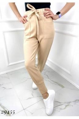 Штаны спортивные с накладными карманами