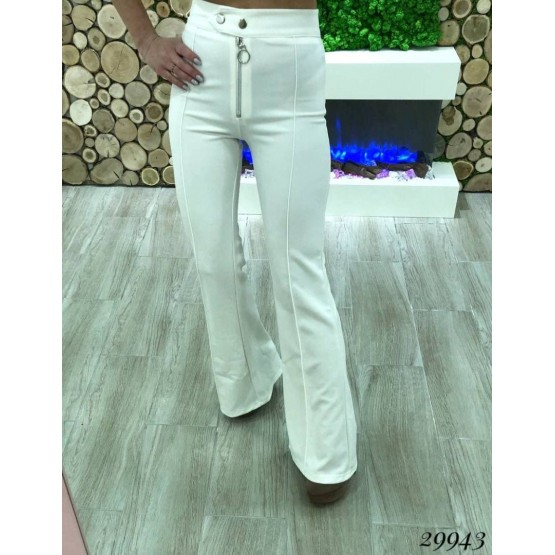 Класические брюки  на  высокой   талии, клеш от колена