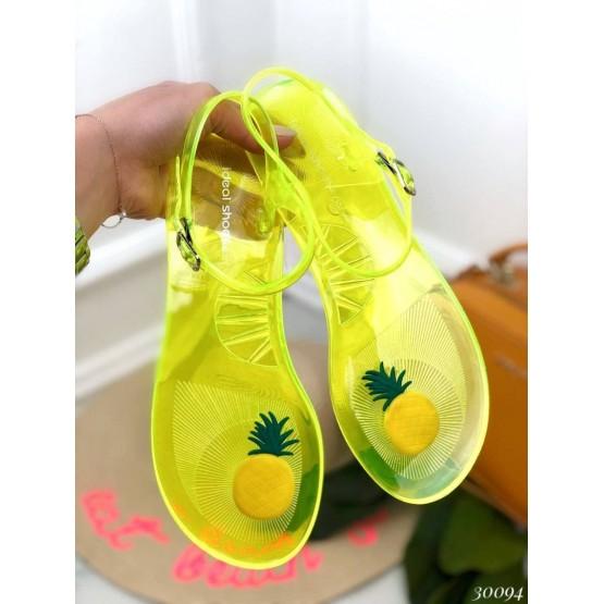 Силиконовые босоножки ананас.
